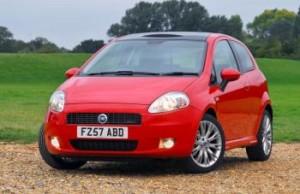 New Model Red Fiat Punto